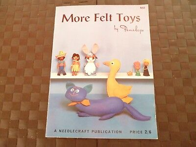 More Felt Toys N63 By Penelope A Needlecraft Publication Booklet - Moggy,penguin