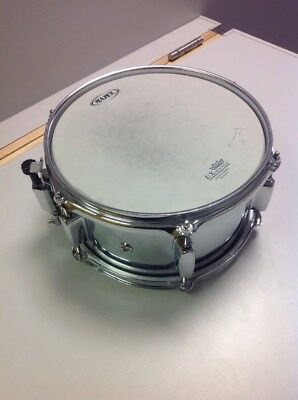 "Mapex MPX 10"" Steel Snare Drum with a Remo UX Drum Head - UK SELLER"