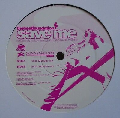 "THE BEAT FOUNDATION ~ Save Me ~ 12"" Single"