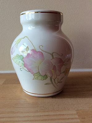 Brixham Pottery Ltd - Small Floral Vase - Sweet Pea Design