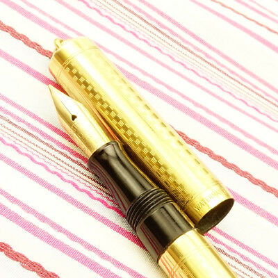 Vintage WATERMAN'S IDEAL 0552-1/2V Gold Filled Overlay Gothic Fountain Pen Flexi