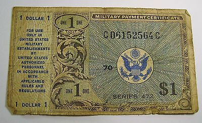 Vintage $1 Usa Military Payment Certificate Series 472 . D5