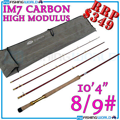 Crystal Ii Fly10' 10'4' Im7 High Modular Carbon 4 Section 8/9# Fly Fishing Rod