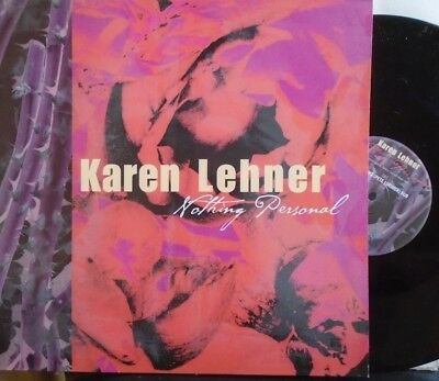 "KAREN LEHNER ~ Nothing Personal ~ 12"" Single PS"