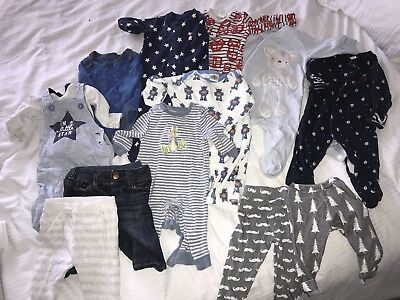 Baby Boy Clothes Bundle Next M&S Gap White Company 0-3 Months