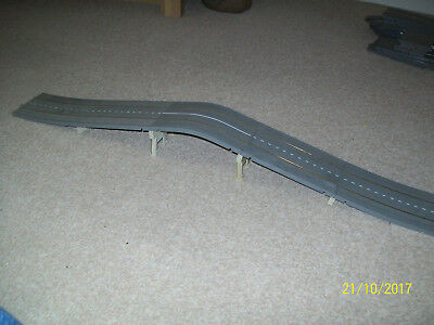 A Working Grey Minic Motorway Humpback Bridge, With Refurbished Track