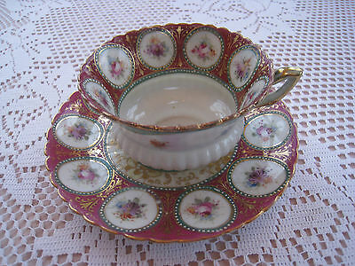 Highly Decorated But Unmarked Porcelain Cup And Saucer