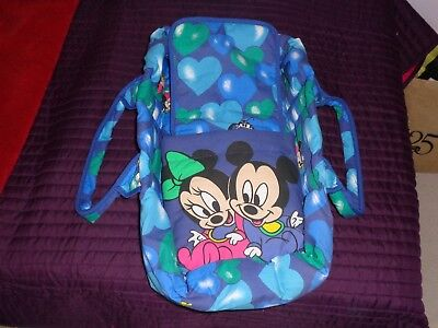 Disney Minnie/mickey Mouse Dolls Carry Cot With Insert  Nr. New