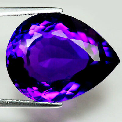 24.03 Ct Aaa! Purple Clr Change To Pink Brazilian Amethyst Pear