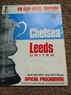 FA Cup Final Replay Chelsea V Leeds 1970 Old Trafford