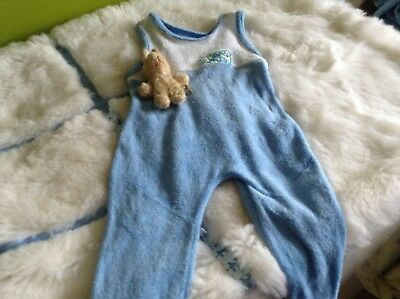 AUTHENTIC VINTAGE INFANT BABY CHILDRENS RETRO DUNGAREES  3/6 M 70sUNUSED