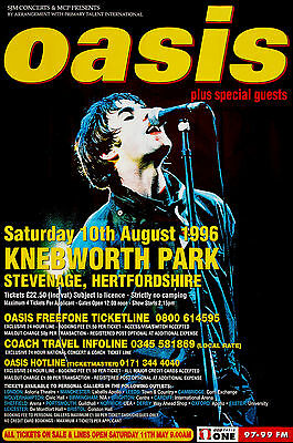 Oasis concert poster print A4 size