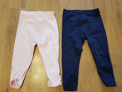 NEXT baby girls 12-18 months leggings x 2 pairs good condition