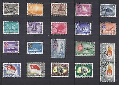 y2761 Singapore / A Small Collection  Early & Modern Used
