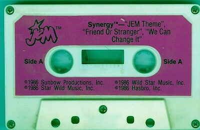Authentic Jem and the Holograms Purple Synergy Cassette Tape FREE SHIPPING