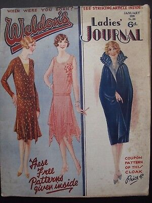 WELDON'S LADIES' JOURNAL No. 595, January 1929  - with patterns