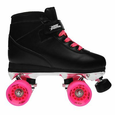 No Fear Womens Derby Quad Skate Lace Up Wheeled Roller Shoes