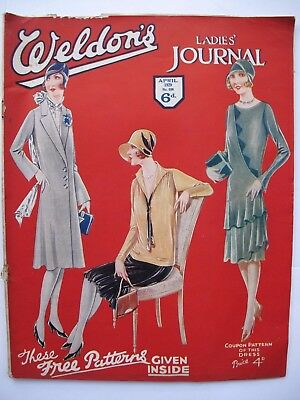 WELDON'S LADIES' JOURNAL No. 598, April 1929  - with patterns