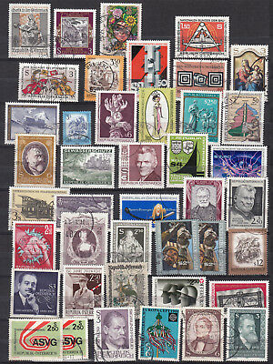 AUTRICHE large collection 6 pages 1977 1998 214 stamps OSTERREICH