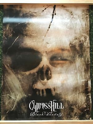 """Cypress Hill - 1993 Black Sunday Promo Poster - 24"""" x 36"""" Double Sided MINT!!"""