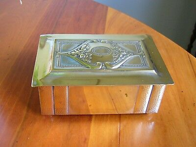 A Lovely Antique German 'wmf' Art Nouveau  'silver Plated' Box - Ostrich Mark.