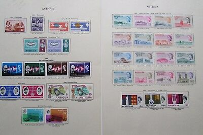 XL2999: Extensive Collection Antigua Mint Stamps (1964 – 66)