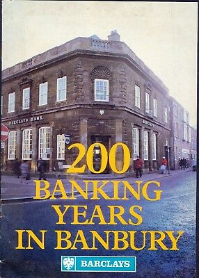BARCLAYS - 200 Banking Years in BANBURY. 1980s. 12-Page Pamphlet. Free UK Post