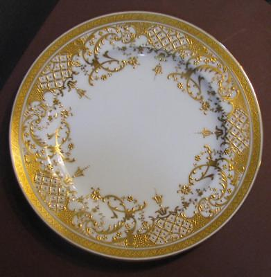 Two Minton's Gold Encrusted Plates Made For Chicago Burleigh