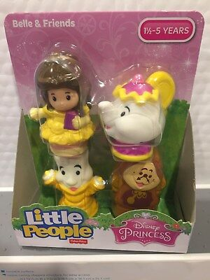 Fisher Price Little People Disney Belle And Friends 4 Figure Set Hard To Find