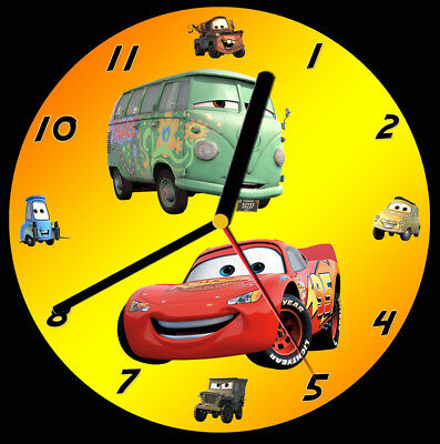 Disney Cars CD Clock, free stand can be personalised