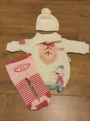 Baby Annabell 3 Piece Winter Clothing Set - Dress, Hat, Tights