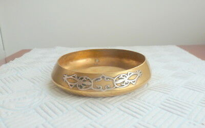 An Arts And Crafts Heintz  Small Bowl Sterling Silver On Bronze  1912-1930