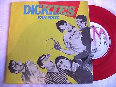 The Dickies ~ Fan Mail ** 1979 A&m 45 Red Vinyl. Poster Slv.