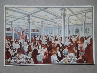 """R.M.S.P """"ARCADIAN""""  DINING SALOON -Royal Mail Steam Packet Company Ship Interior"""