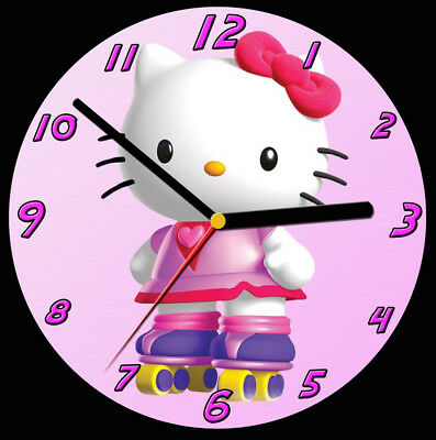 Hello Kitty CD Clock, free stand can be personalised