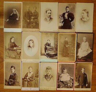 CDV photographs x 30- Portraits by various English and Welsh studios