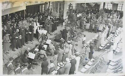 Thanksgiving In Bandstand Herne Bay Kent 1945 Rp Pc