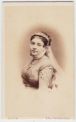Stage CDV-CELINE MONTALAND, Child star and opera-bouffe singer by ERWIN OF PARIS