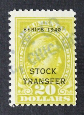 CKStamps: US Revenue Stock Transfer Stamps Scott#RD60 Used Lightly Crease