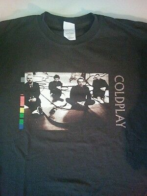 2005 Coldplay Twisted Logic Tour Graphic T-Shirt British Rock Brown Adult Med.