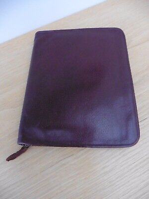 Superb Vintage soft grained leather writing case in great condition free UK post