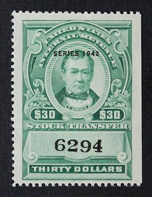 CKStamps: US Revenue Stock Transfer Stamps Collection Scott#RD134 Unused NG