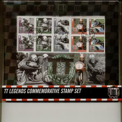 Isle of Man 2007 TT Legends boxed commerative stamp set