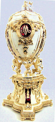 Three Piece set representing Faberge' egg of the Romanov Dynasty