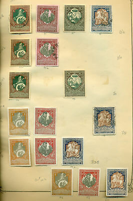 E218 Russia 1914 Mh/used. 2 Sheets Old Collection. Cat. ++56 €.
