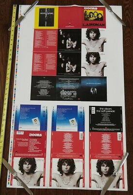 The DOORS cd Whitney UNCUT PRINTER PROOF SHEET poster