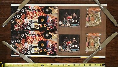 """Aerosmith """"Toys in the Attic"""" cd UNCUT PRINTER PROOF SHEET poster"""