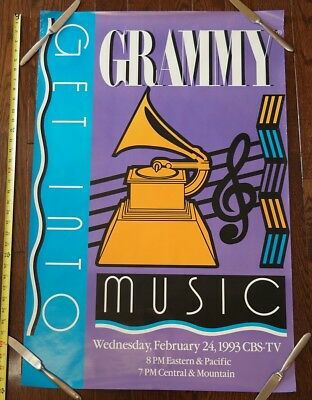 1993 U2 Grammy Awards double sided promo poster
