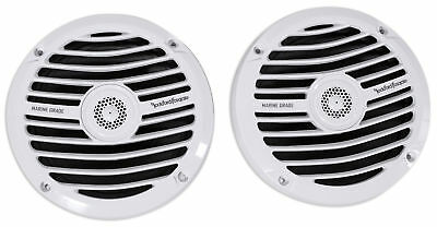 "Pair Rockford Fosgate Prime RM0652 6.5"" 100W Marine/Boat Speakers White 4-Ohm"