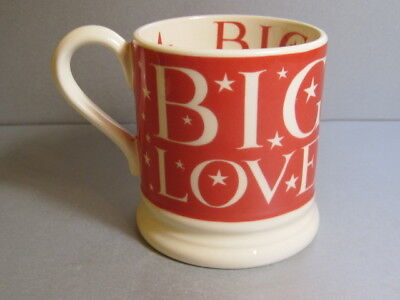 Discontinued Emma Bridgewater Starry Skies Pottery BIG LOVE 1/2 Pint Red Mug